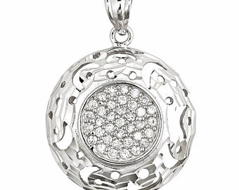 Gorgeous Round Shape Shiny Cut With CZ Set On 18k Layered Sterling Silver Charm