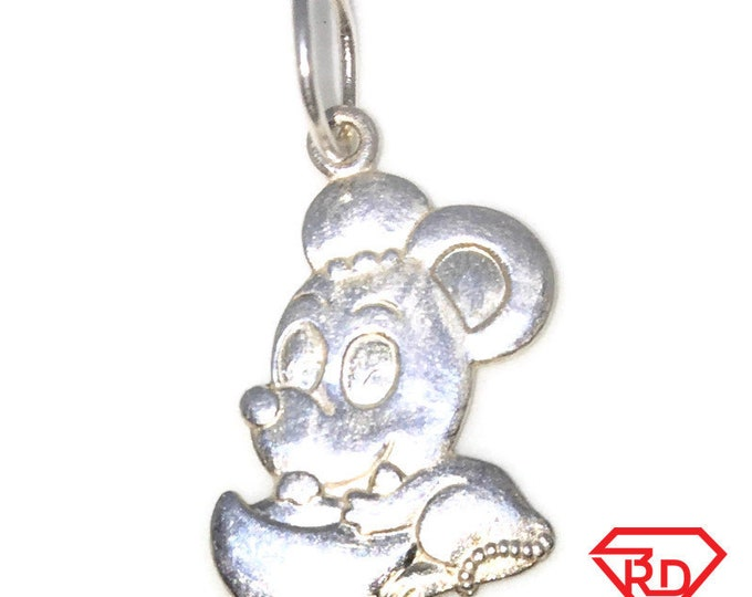 Brand New 925 Silver Medium Pendant with Cute Mouse on chinese Tael