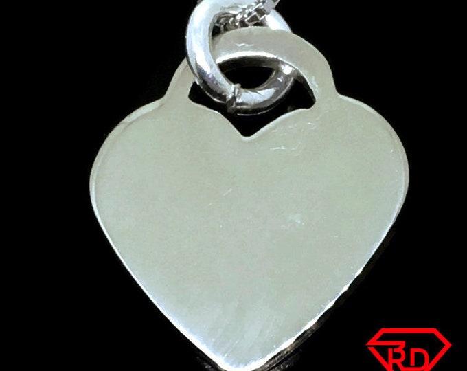 Medium Love Heart charm pendant 925 Sterling Silver