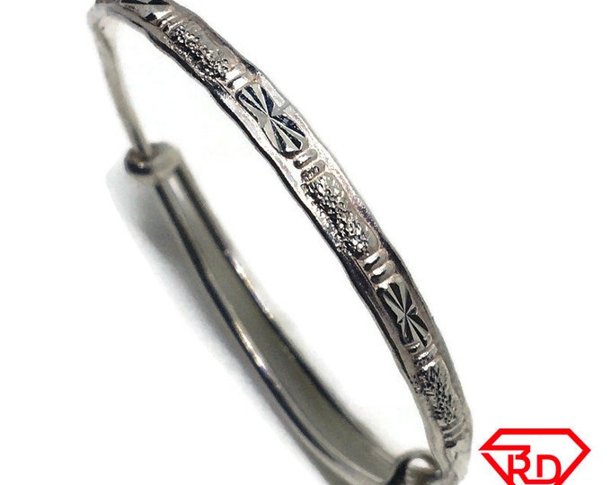 Thin Baby Toddler Bangle Bracelet 925 Silver