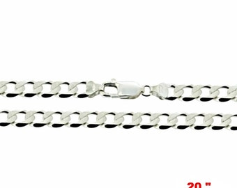 Precious Italian Sterling Silver Anti-Tarnish Curb link Chain 2.2 MM 20 ""