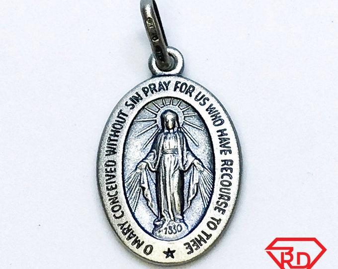 NEW 14K Black Gold Layered on .990 Sterling Silver Jesus Christ Oval Matte Plate Pendant