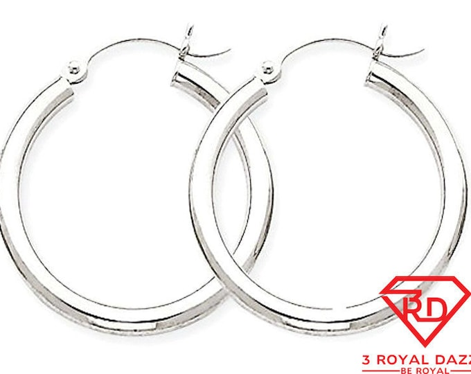 Plain round hoop earring 14kt gold layer on silver notched w/ post back 3mm 16mm