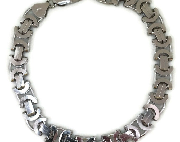 white gold layer Silver bracelet Smooth artistic design
