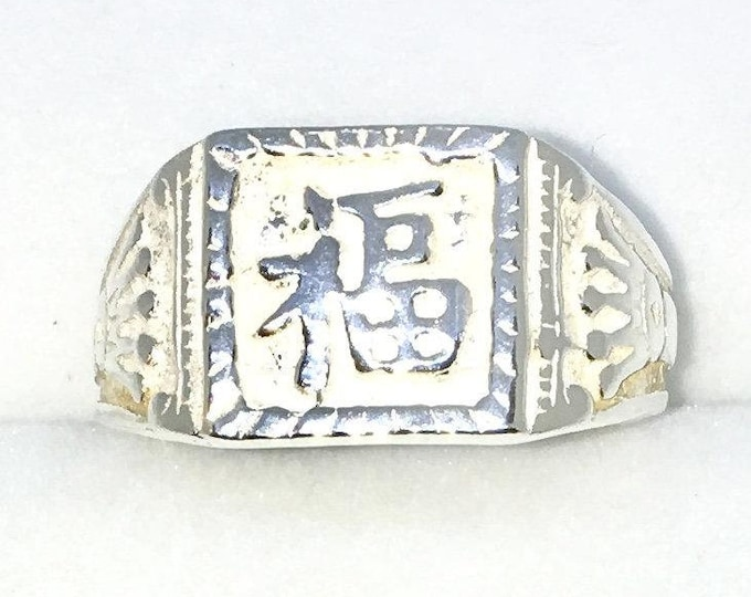 New Handcraft 925 Solid Silver ring fortune Rich or Successful