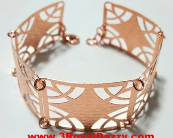 14k Rose Gold Layer on 925 Silver Bracelet - 3RoyalDazzy.com Handmade Exclusive- 12