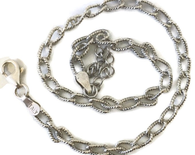 Brand New Anti-Tarnish Silver Anklet 9 inch diamond cut cable chain with lobsterclaw clasp and 1 inch extension