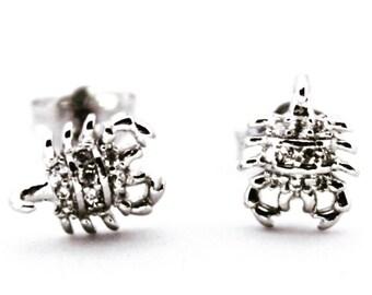 Small Sterling Silver Scorpion Earrings