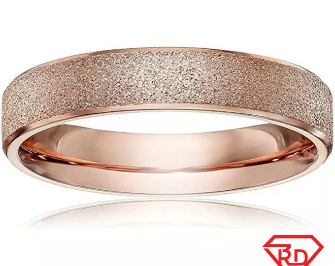 6mm Size7 Rose Gold plated on Stainless Steel wide unisex women men Ring Band