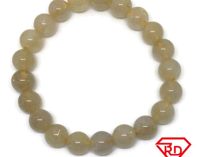 Green transparent Crystal beads Elastic Bracelet