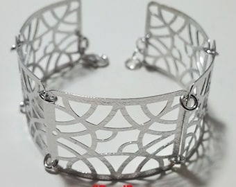 14k White Gold Layer on 925 Silver Bracelet (3RoyalDazzy.com Handmade Exclusive-7)