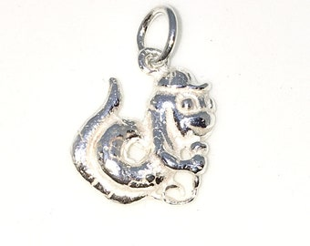 Brand New 925 Solid Sterling Silver Medium Pendant with Comedian Snake Serpent