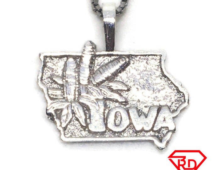 Iowa State charm pendant 925 Sterling Silver
