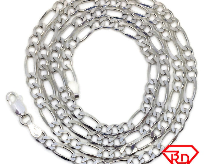 Figaro Chain 24 inch Necklace 925 Solid Silver