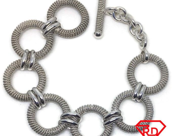 Heavy round link Chain 7 inch Bracelet 925 Silver