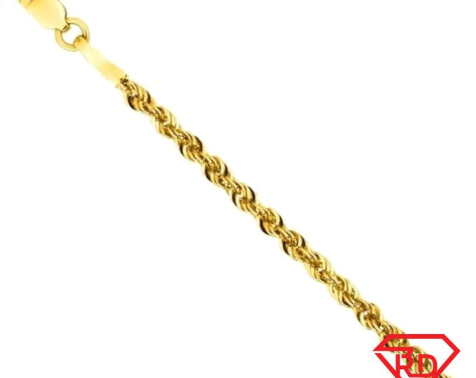 Italy 14k yellow gold layer on 925 sterling silver classic rope chain- 1.5mm 24""