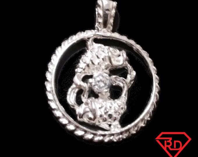 Astrology Zodiac Pisces Horoscope Birthday Anti Tarnish .925 Sterling Silver Pendant