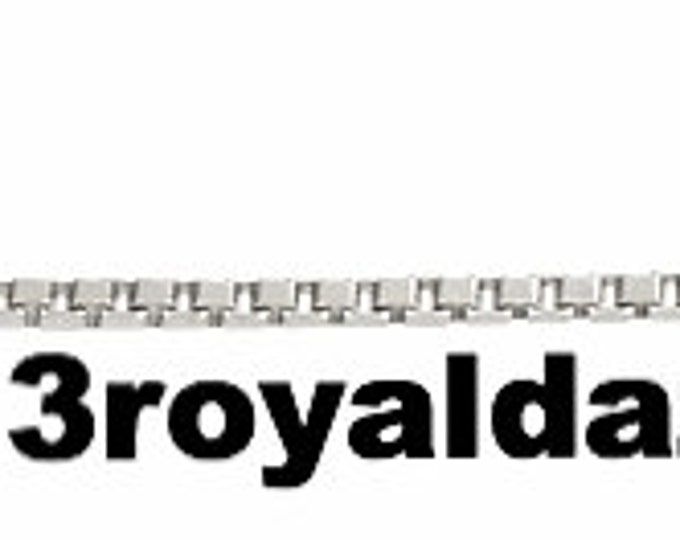 """Italian solid 18k white gold layered over .925 sterling silver - 1 mm box chain -18 """""""
