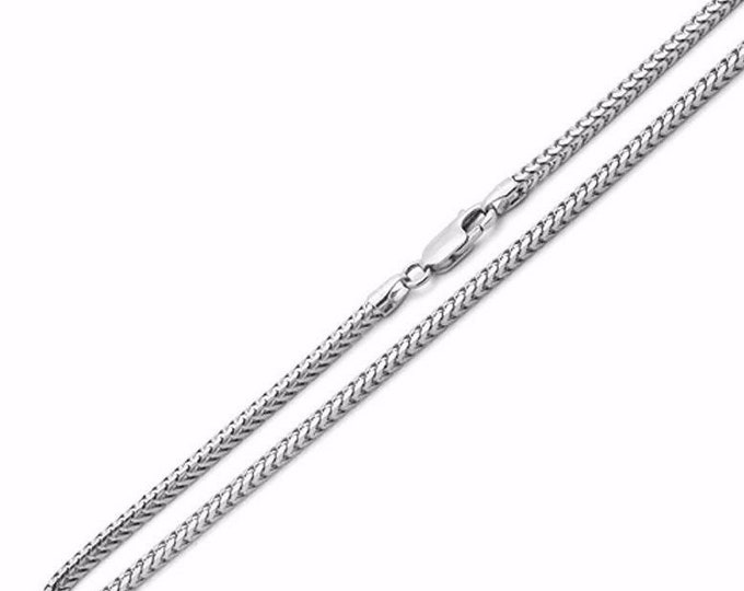 """Attention getting fashion italy franco chain .925 sterling silver - 1.5 mm 18 """""""