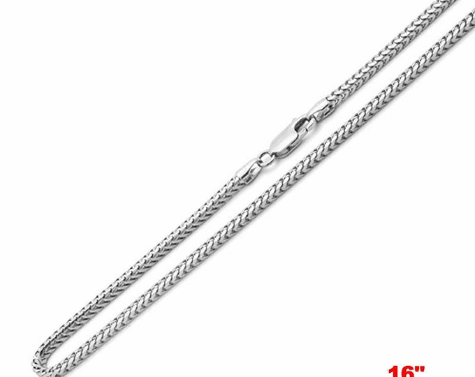 """Attention Getting Fashion Franco Chain .925 Sterling Silver - 1.5 MM 16 """""""