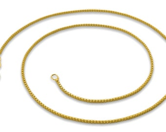 Italian 14k yellow gold layered over .925 sterling silver - 1 mm box chain -18 ""