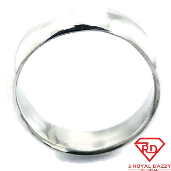 25 6mm Size 7 Handmade solid 990 Silver high polished glossy plain wedding Ring Band 5