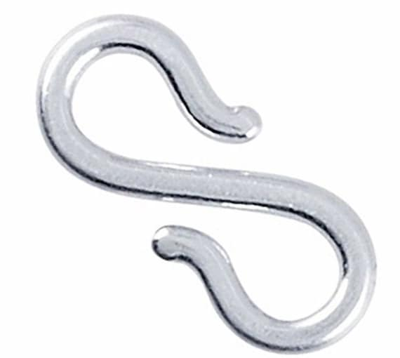 Medium handmade solid 925 sterling silver s hook clasp component finding repair