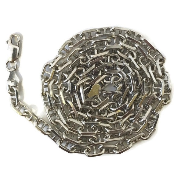 Brand New Anti-tarnish Silver Necklace 30 inch thick cable chain chain with lobsterclaw clasp