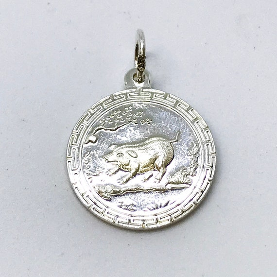 NEW .990 Sterling Silver Year Of the Pig Pendant
