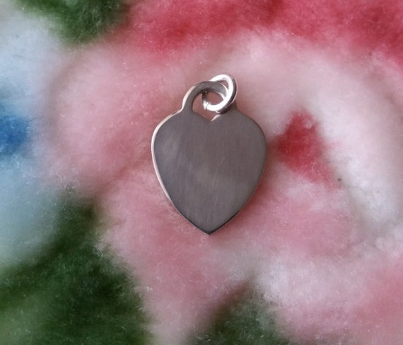 Engravable Flat Oval Heart Solid .925 Anti Tarnish Sterling Silver Pendant