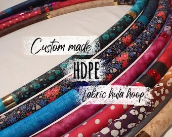 CUSTOM hoop: hard HDPE hula hoop, custom dance travel hoop, collapsible dance hoop, fabric dance hoop, fabric hula hoop, custom made hoop