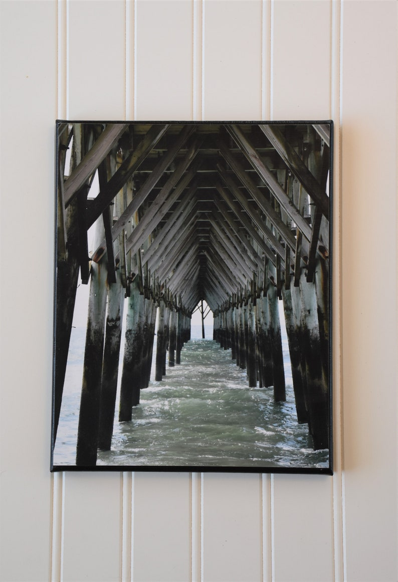 Topsail Island art  pier picture  coastal photography  image 0
