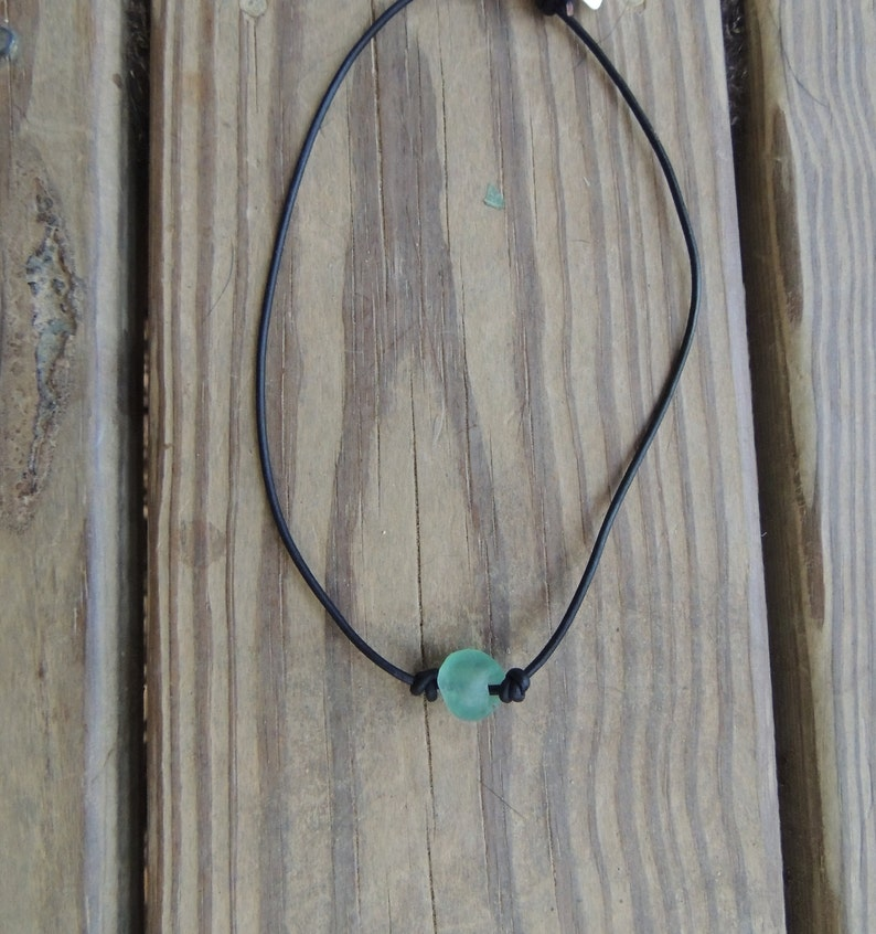 Mens necklace  Mens Leather Necklace  Mens Boho Necklace  image 0