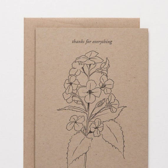 love for her by Of Note Stationers letterpress cards card for mom Mother/'s Day card for wife most wonderful woman wildflowers card