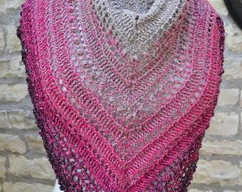 crochet handmade short shawl