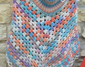 girl hand crocheted poncho