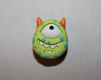 button Monster costume sewing from the bottom