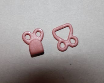 Clip clasp pink sides