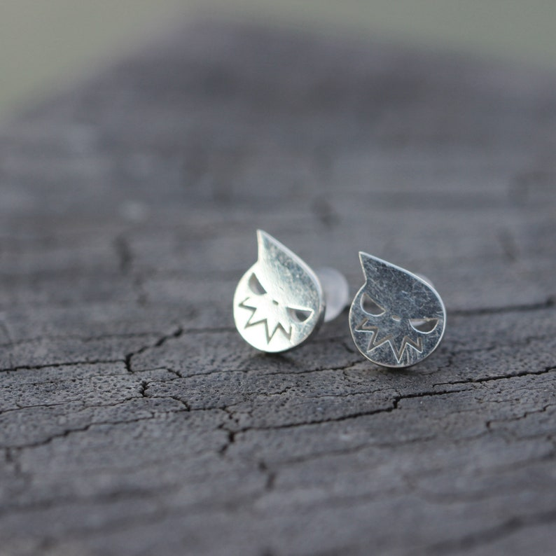 925 sterling silver Soul Eater stud earrings