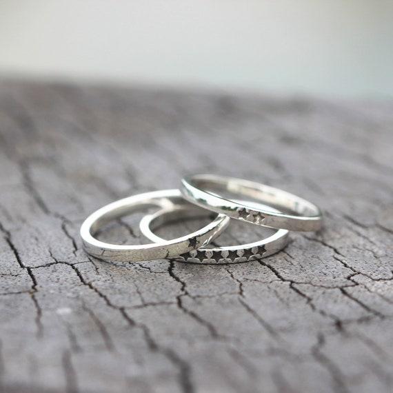 dainty ring,Minimalist jewelry,midi ring Tiny star ring,sterling silver stars jewelry,simple minimal ring,double stars ring,twinkle stars