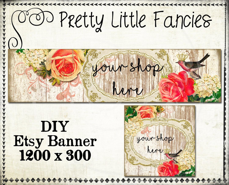 Etsy Shop Banner Diy Banner Template Premade Etsy Store Large Etsy