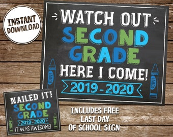 graphic about Last Day of 2nd Grade Printable referred to as 2nd quality Etsy