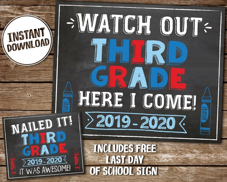 photo regarding First Day of 3rd Grade Sign Printable identified as To start with Working day of 3rd Quality Printable Chalkboard Indicator, Printable Picture Prop, Again towards Higher education 3rd Quality Indicator, Prompt Down load