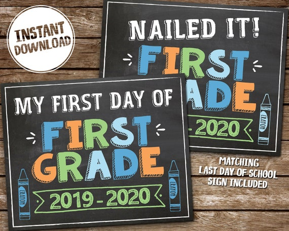 It's just a picture of First Day of 1st Grade Printable Sign inside 11th grade