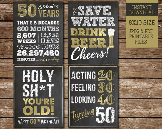 It's just an image of Printable 50th Birthday Signs with regard to photobooth