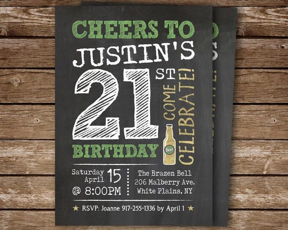 21st Party Invite Birthday Invitation Printable For Adult 40th 50th 60th 70th