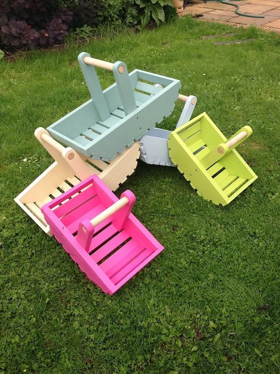 Personalised Adult Kids Handmade Garden Trug