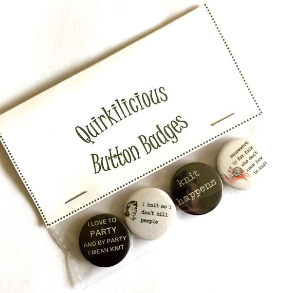 25mm//1in Novelty Get Your Knits Out Pinback Button Badge Gift Fun