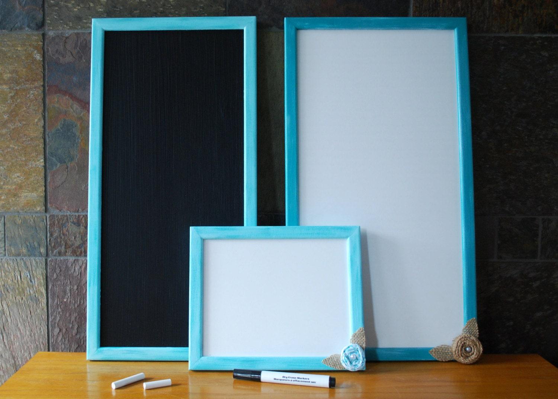 Framed Chalkboard Teal Chalkboard Dry Erase Board Teal | Etsy