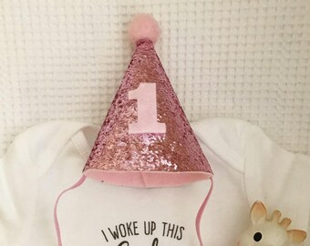 Birthday Party Hat | First Birthday Hat | 1st Birthday Party Hat | Pink Party Hat